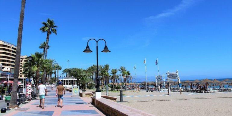 Beach boulevard of Torremolinos